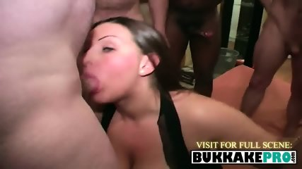 Young chick making fat cocks disappear