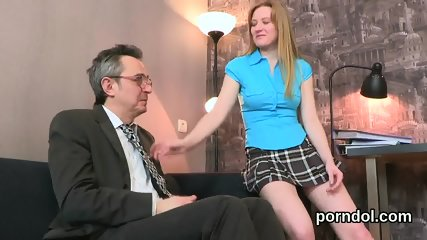 Fervent schoolgirl is tempted and screwed by her senior teacher
