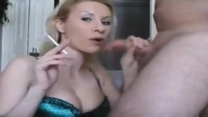Smoking Girl Gets Facial - scene 2