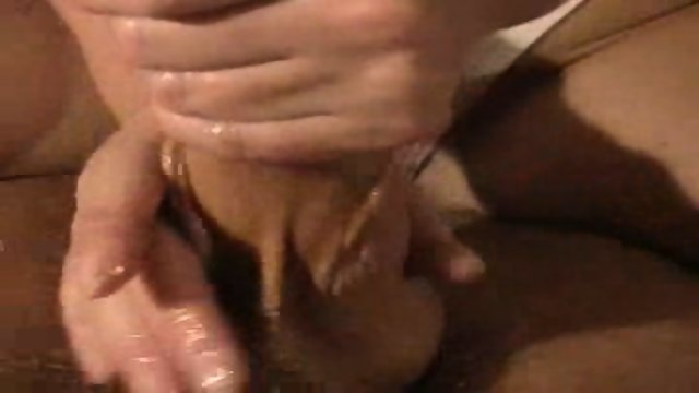 Handjob with tits cum