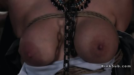 Huge tits blonde anal fucked in submission