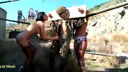 Erotic ebony ballbusting fetish