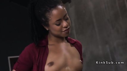 Land owner ties up and anal fucks ebony
