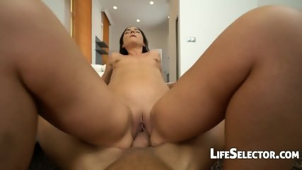 Small Titted Girl Plays With A Huge Dick - Nataly Gold - scene 11