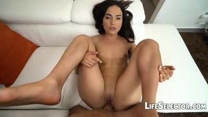 Small Titted Girl Plays With A Huge Dick - Nataly Gold - scene 6