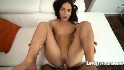 Small Titted Girl Plays With A Huge Dick - Nataly Gold - scene 7
