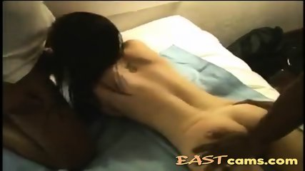 Asian milf gets her pussy busted by black monster