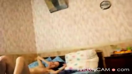 Cute girlfriend gets drilled on her bed
