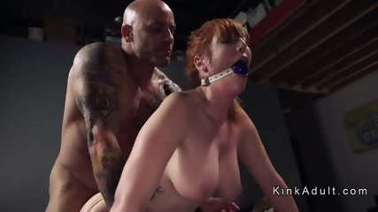 Gagged huge tits redhead anal fucked - scene 10