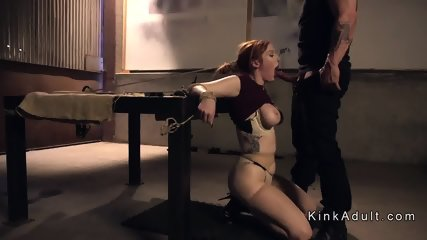 Gagged huge tits redhead anal fucked - scene 6
