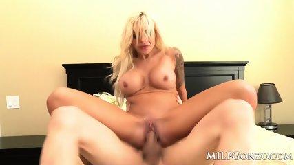 MILFGonzo Busty Blonde Nina Elle Fucking A Huge Cock - scene 9