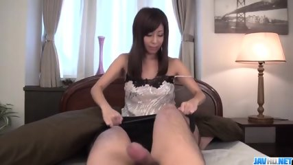 Top rated POV blowjob by naughty Chihiro Akino
