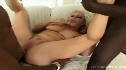 Alicia gets man handeled by 2 big black cocks - scene 9