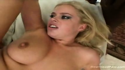 Alicia gets man handeled by 2 big black cocks - scene 3