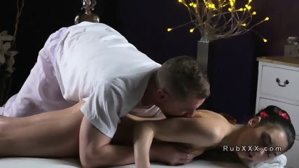 Pussy massage for hairy cunt babe