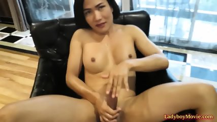 Tgirl cocksucked and ridden by lesbian