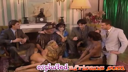 Orgy breaks out on pussy torn Europe - scene 5