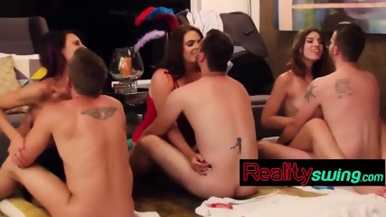 Stunning Wives And Girlfriends Get Stripped And Fucked In Swinger Orgies