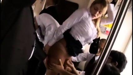 Milf Wife Get's Groped And Fucked On Train