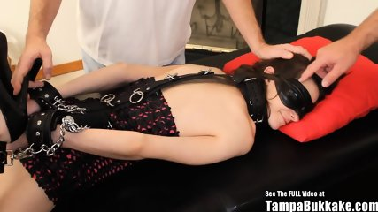Teen Bondage Blindfold Gang Fuck Black Cock