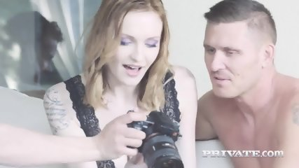 Belle Claire Dons Lingerie For DP Threeway - scene 2