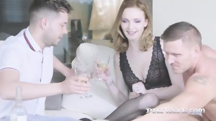 Belle Claire Dons Lingerie For DP Threeway - scene 3