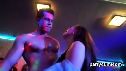 Naughty cuties get absolutely silly and naked at hardcore party