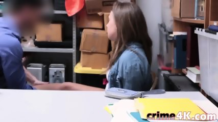 Petite queen is getting raped in the office by a rock hard cum gun