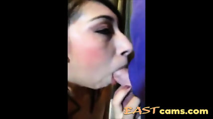 Asian bitch blowjob and cum in mouth