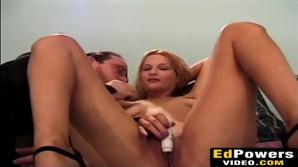 Blonde beauty Megan Matthews sucks a fat juicy fuck stick