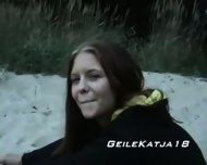 Horny Katja on the Beach - scene 12