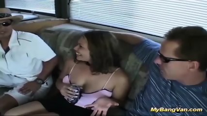 babe picked up for wild anal gangbang