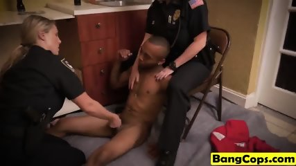 Bubble butt MILFs dressed as cops enjoy dicking in doggy style