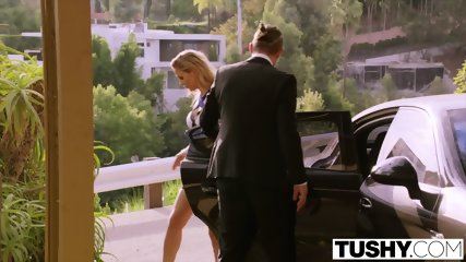 TUSHY Blair Williams Has A HOT Anal Lesson Threesome With Her Boss - scene 1