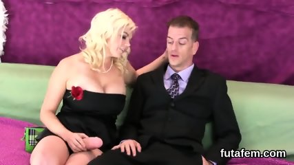Sweeties pound fellows anal with oversized belt cocks and ejaculate cream