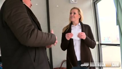 Blonde With Nice Tits In Truck - scene 2