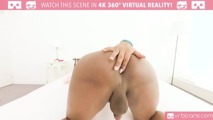 TS VR Porn - Kinky Nathaly Miller playing with a dildo in the ass