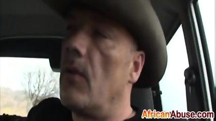 Good looking ebony slut is devouring a rock hard fuck stick