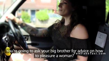 Female fake taxi driver teaches dude sex - scene 3