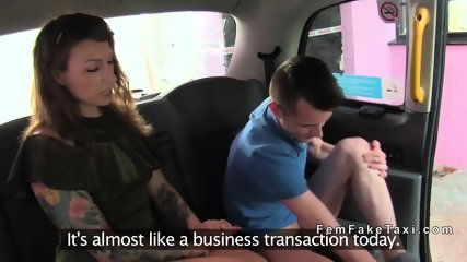Female fake taxi driver teaches dude sex - scene 5