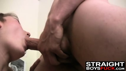 Bi dudes get to fuck this hairy pussy babe in the dorm room