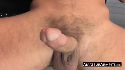 Juicy cock lover strokes his hairy fuck stick passionately - scene 11