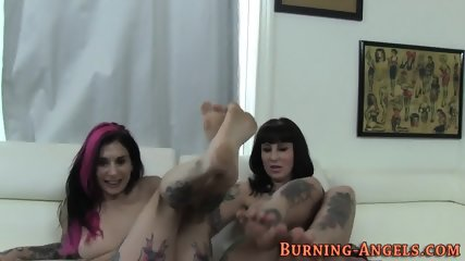 Tattooed sluts 3way ride