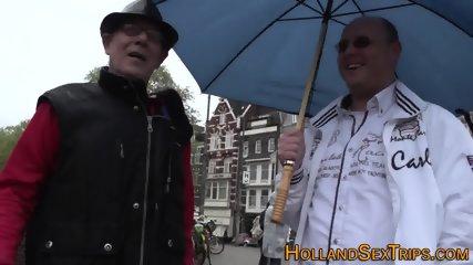 Dutch hooker sucks cock
