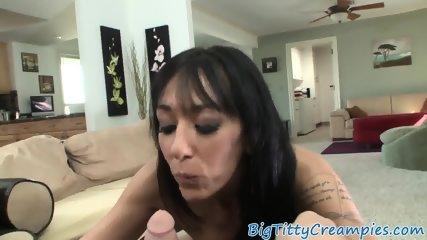Outstanding milf titfucking and dicksucking