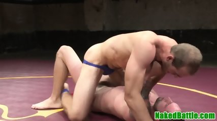 Asslicked muscular stud jerking submissive