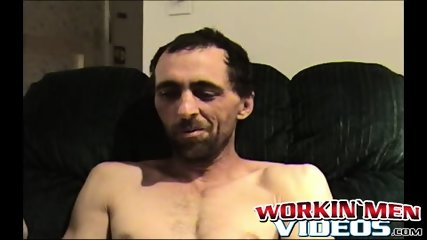 Horny old man is really eager to jacks off his fuck stick