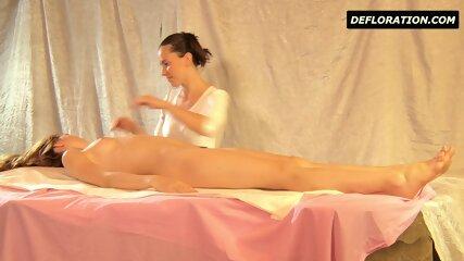Hairy Teen Being Massaged - scene 2