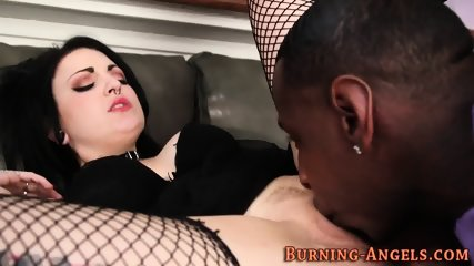 Goth whore riding bbc