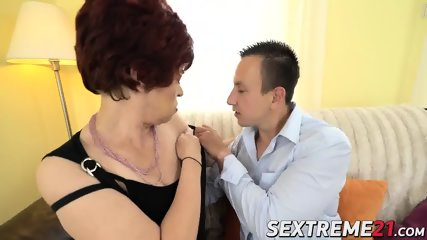 Pervert granny donatella knows how to please shaved pussy - 3 part 4